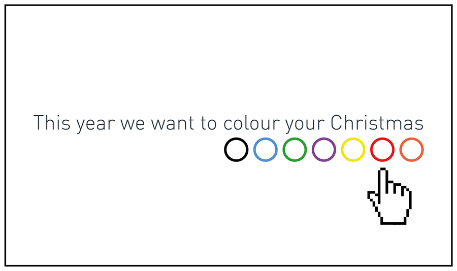 This year we want to colour your Christmas